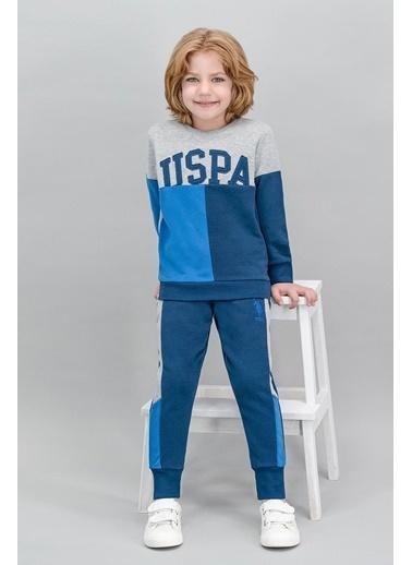 U.S. Polo Assn. U.S. Polo Assn Lisanslı Grimelanj Erkek Çocuk Eşofman Takımı Gri
